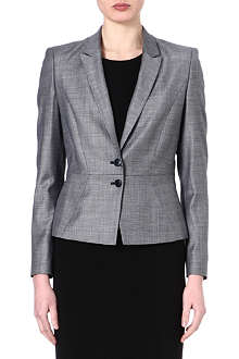HUGO BOSS Pin-dot wool-blend jacket