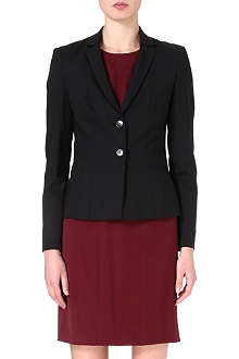 HUGO BOSS Stretch-wool fitted jacket