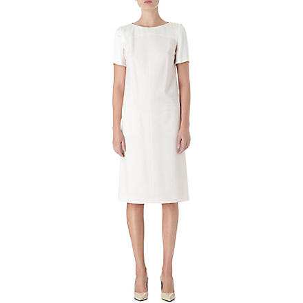 HUGO BOSS Wool shift dress (Natural