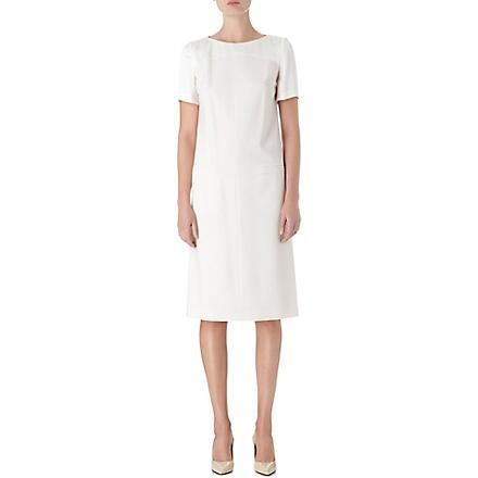 HUGO BOSS Wool shift dress (Natural