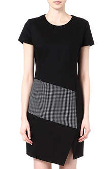 HUGO Check panel dress