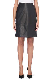HUGO BOSS Leather pencil skirt