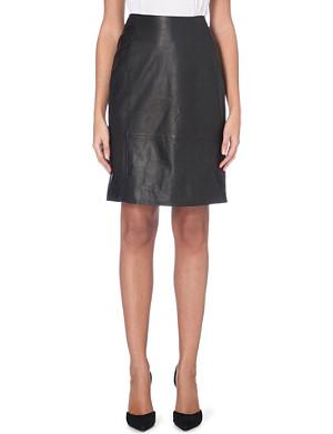 HUGO BOSS Leather pencil skirt