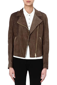 HUGO BOSS Suede biker jacket