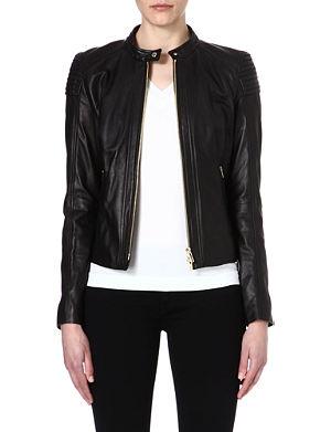 HUGO BOSS Leather biker jacket