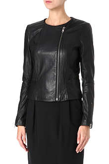 HUGO Libea leather biker jacket