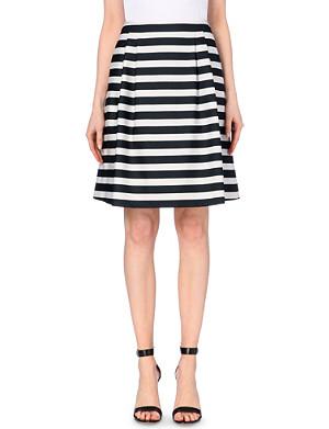 HUGO BOSS Stretch-crepe stripe skirt