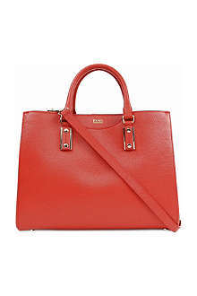 HUGO BOSS Mila leather tote bag