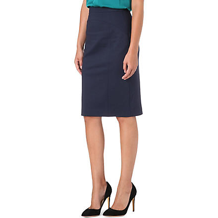 HUGO Jersey pencil skirt (Navy