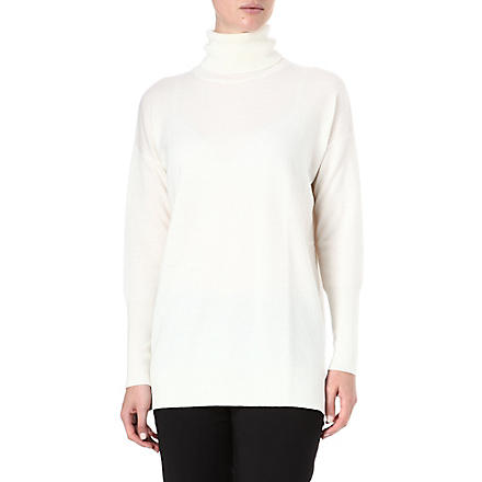 HUGO Sandana wool and cashmere-blend jumper (Cream