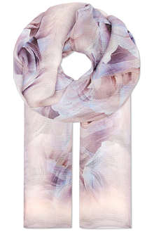 HUGO BOSS Rose print net scarf