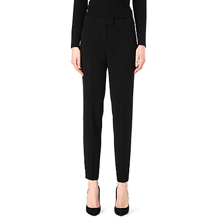 HUGO BOSS Taleke crepe trousers (Black