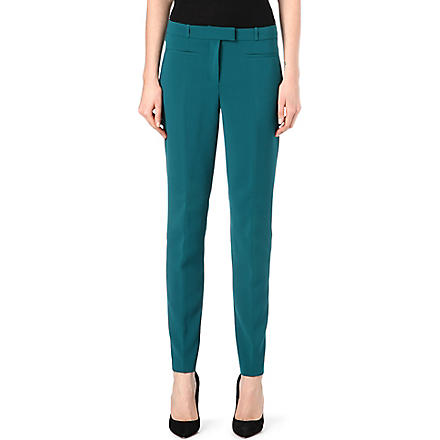 HUGO BOSS Taleke crepe trousers (Teal