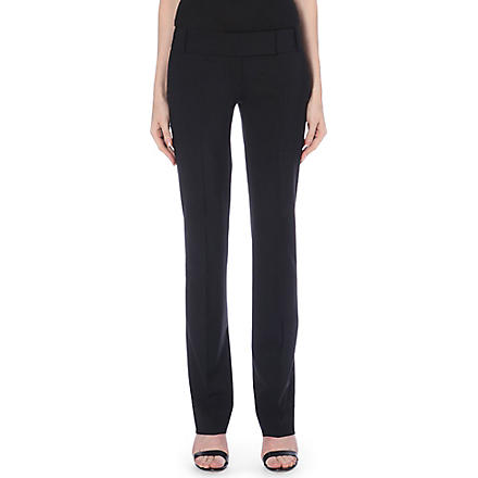 HUGO BOSS Taru straight-leg trousers (Black