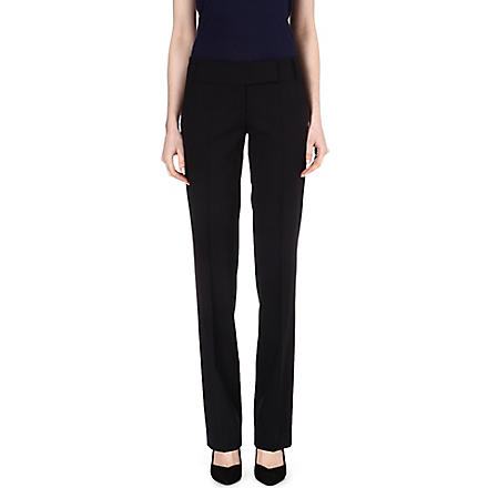 HUGO BOSS Taru straight-leg trousers (Navy