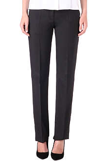 HUGO BOSS Pin dot wool-blend trousers