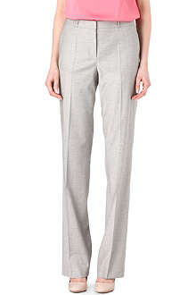 HUGO BOSS Straight-leg wool trousers