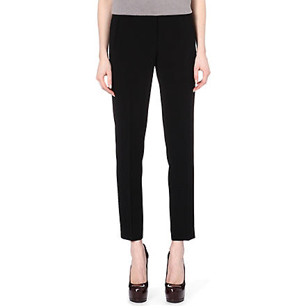 HUGO BOSS Teona crepe cropped trousers (Black