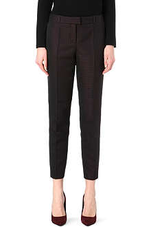 HUGO BOSS Jacquard tapered mid-rise trousers