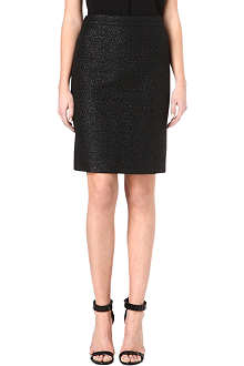 HUGO BOSS Shiny tweed pencil skirt