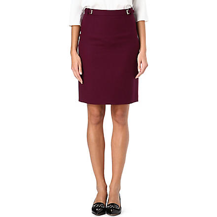 HUGO BOSS Valessima wool-blend pencil skirt (Aubergine