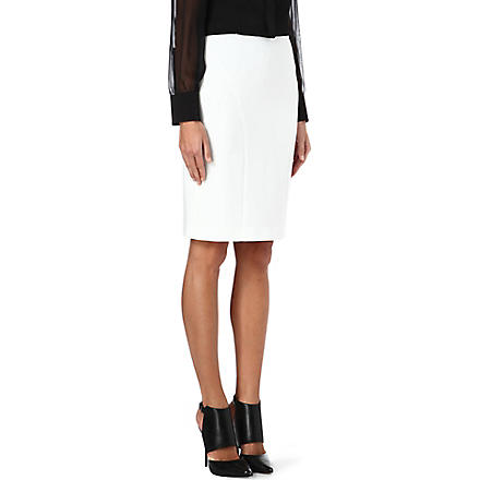 HUGO BOSS Vekila pencil skirt (White
