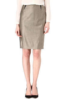 HUGO BOSS Stretch-wool pencil skirt