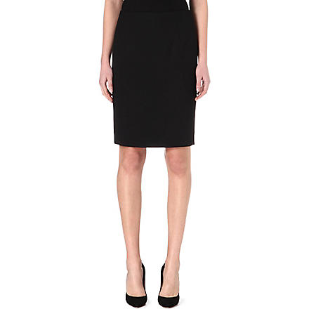 HUGO BOSS Wool-blend pencil skirt (Black