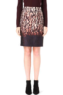 HUGO BOSS Vilina abstract-print pencil skirt