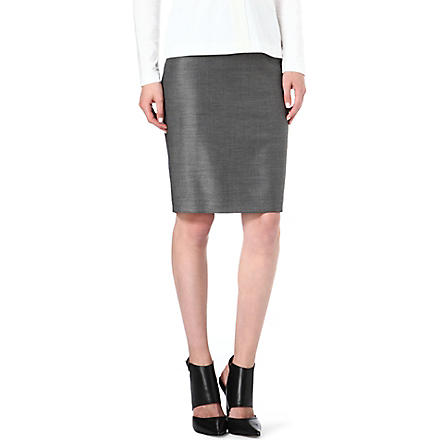 HUGO BOSS Vilina pindot pencil skirt (Grey