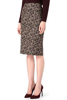 HUGO BOSS Jaquard-print pencil skirt