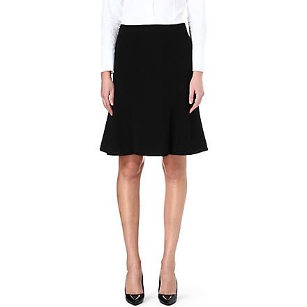 HUGO BOSS Vilova fit-and-flare skirt (Black