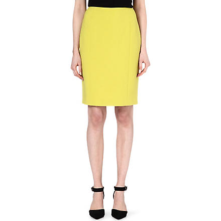 HUGO BOSS Jersey pencil skirt (Pistachio
