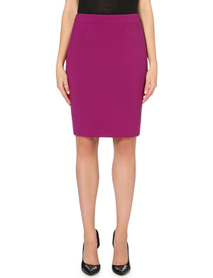 HUGO BOSS Classic pencil stretch-crepe skirt
