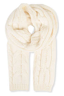 HUGO BOSS Cable-knit scarf