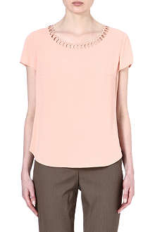 HUGO BOSS Zanetta scallop edge top