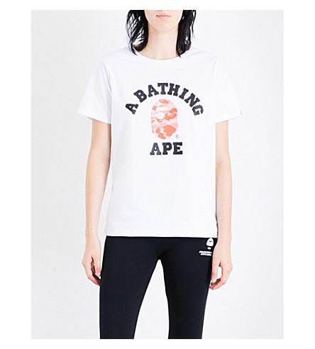 BAPE College logo-print cotton-jersey T-shirt (Whg