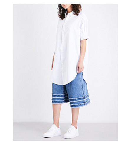 5CM Oversized poplin shirt (White
