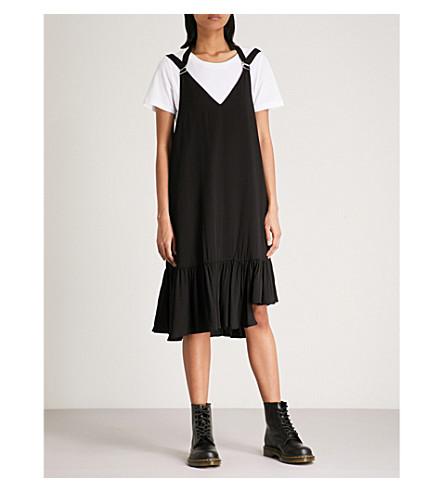 AAPE 2-in-1 jersey dress (Black