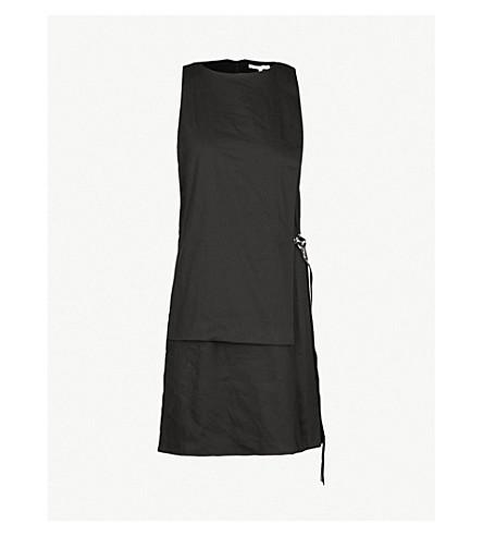 5CM 品牌皮带弹力棉连衣裙 (黑色