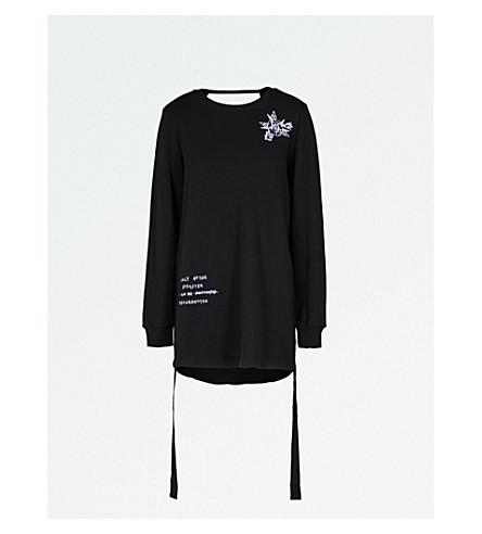 5CM Embroidered cotton-jersey jumper dress (Black