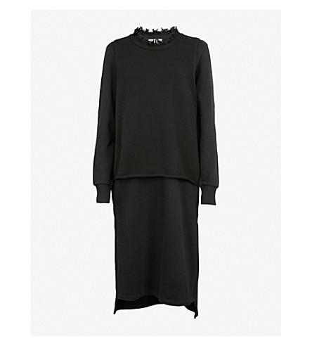 5CM 2-in-1 cotton-jersey dress (Black