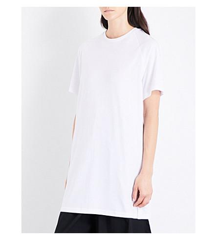 5CM Longline cotton-jersey T-shirt (White