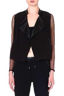 5CM I.T mesh-sleeve jacket
