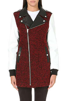 5CM I.T. tweed biker jacket