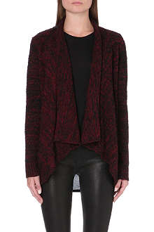 5CM I.T. draped knitted cardigan