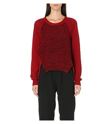 5CM Speckle drop shoulder jumper (Red