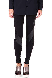 5CM I.T faux-leather panelled leggings