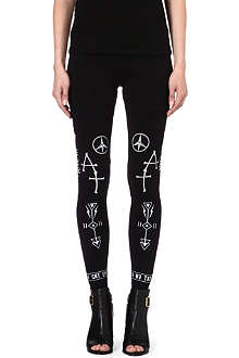 5CM I.T tattoo print stretch-cotton leggings