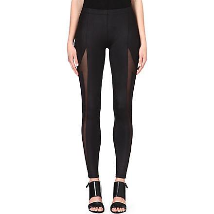 5CM Mesh panelled leggings (Black